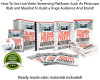 Download HOT Niche Streaming Profits Authority PLR 100% Profits!
