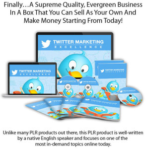 Download Twitter Marketing Excellence PLR FULL License!
