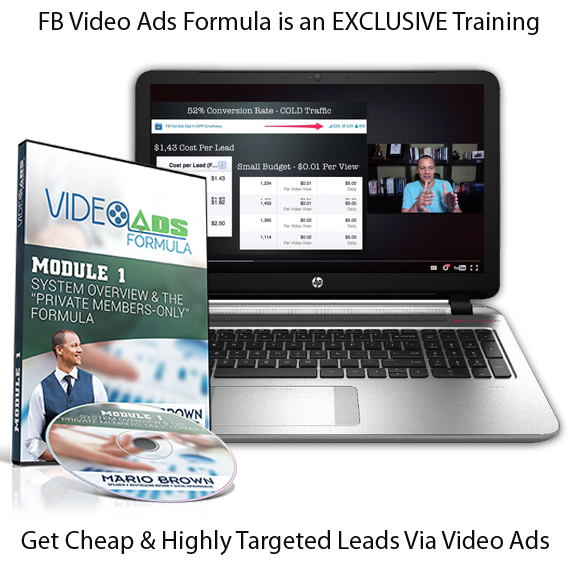 Mario Browns FB Video Ads Formula INSTANT Download!
