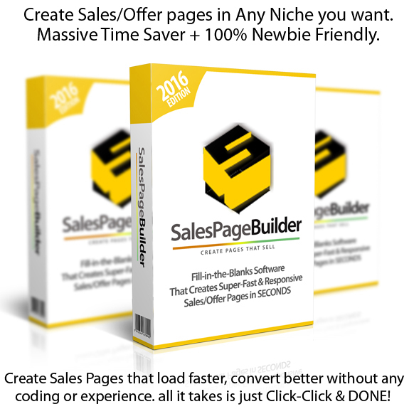 Download Sales Page Builder Software UNLIMITED By Ankur Shukla