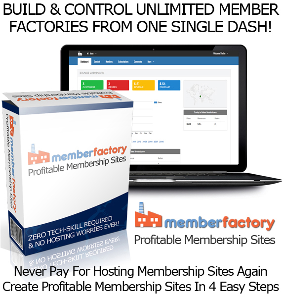 UNLIMITED ACCES Member Factory Software Best Membership Site Builder
