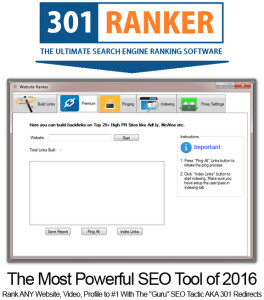 301 Ranker Pro FULL LICENSE UNLIMITED ACCESS!!! Powerful Link Building Tool