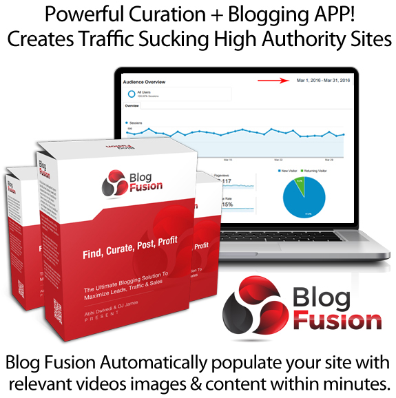 Blog Fusion Delivers Free Targeted Traffic In Seconds By OJ James