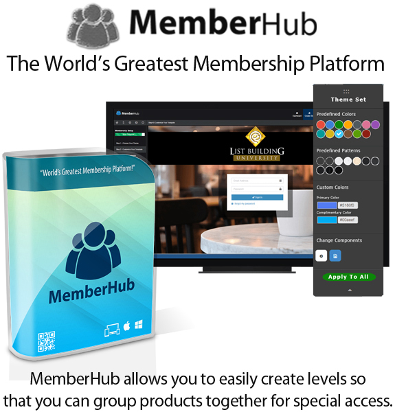 MemberHub Software APP Instant Access By Chad Nicely