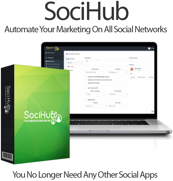 SociHub Software 100% Full Access Member Area Unlimited