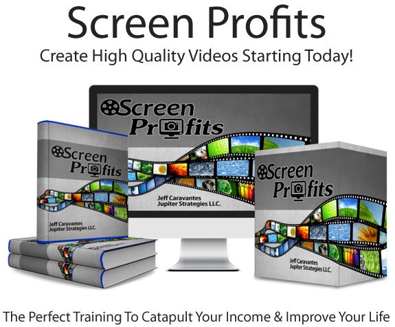Screen Profits Pro By Jeff Caravantes Instant Download