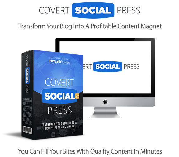 Covert Social Press 2.0 WP Theme Instant Download By IM Wealth Builders