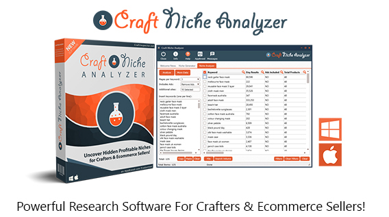 Craft Niche Analyzer Software Pro Instant Download By Dave Guindon